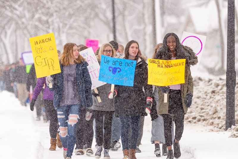 PCI students march for equality
