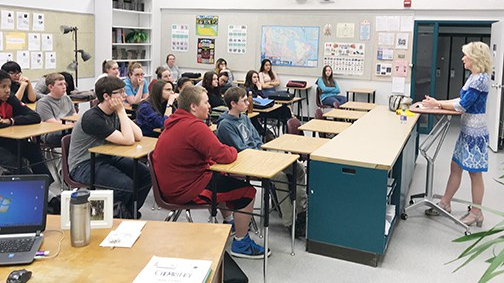 MP speaks with PCI students