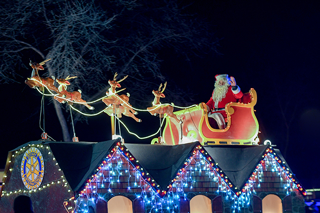 Annual parade lights up avenue