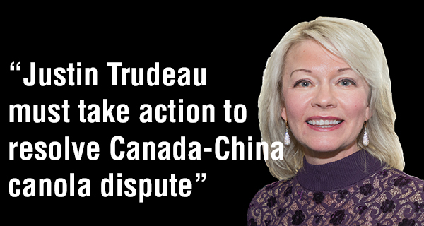Justin Trudeau must take action to resolve Canada-China canola dispute