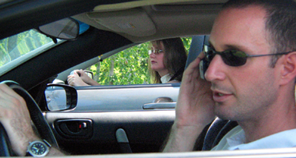 Driving on cellphone