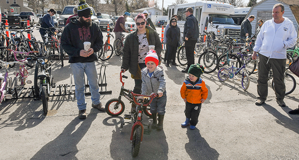 Portage firefighters wheel out great bike auction Saturday