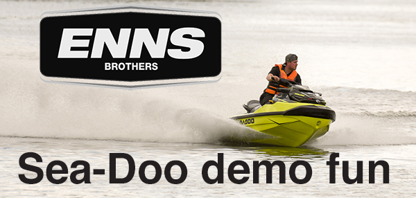 Enns Brothers demo Sea-Doos on Crescent Lake