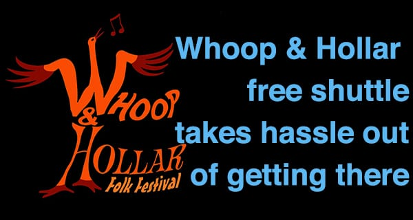 Whoop & Hollar Folk Fest introduces free shuttle service
