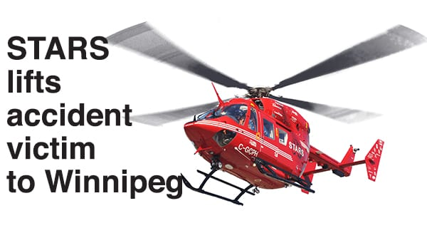 Pedestrian airlifted to Winnipeg following a highway accident