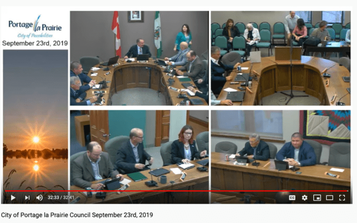 Portage la Prairie City Council meeting of Sept. 23, 2019