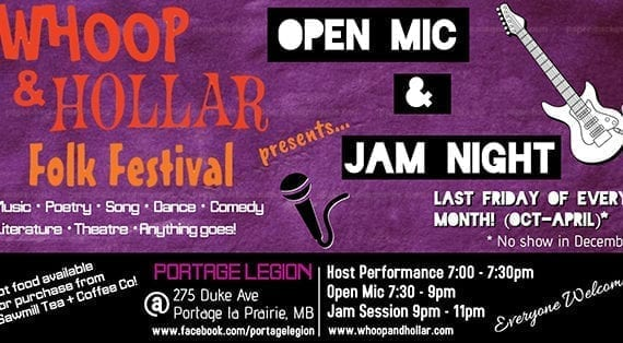 Whoop & Hollar Open Mic and Jam Night returns for third season