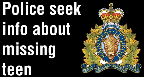 RCMP search for missing 17-year-old male