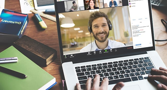 video conference zoom meeting headset
