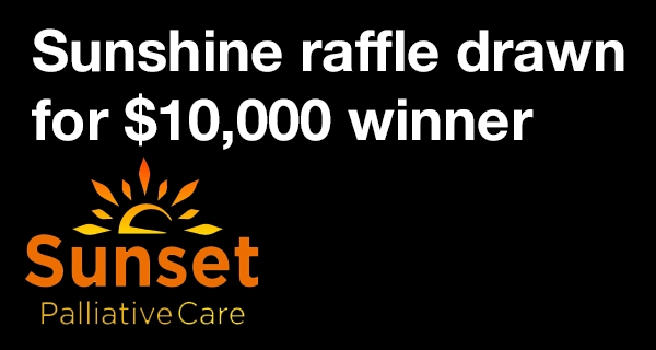 Sunset Palliative Care draws winner for Summer Sunshine Raffle