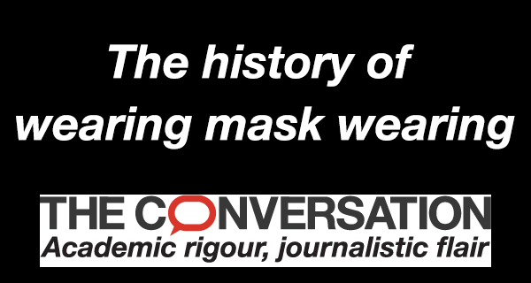 The history of wearing mask-wearing