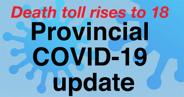 COVID-19deaths up by two in Sept. 21 provincial update
