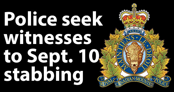 RCMP ask for witnesses to stabbing