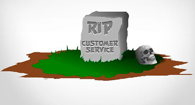 Is customer service dead?