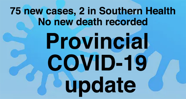 Provincial government COVID-19 update for Oct. 16