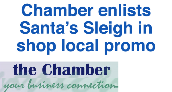 """Chamber fires up """"Santa Sleigh"""" to promote shop local"""