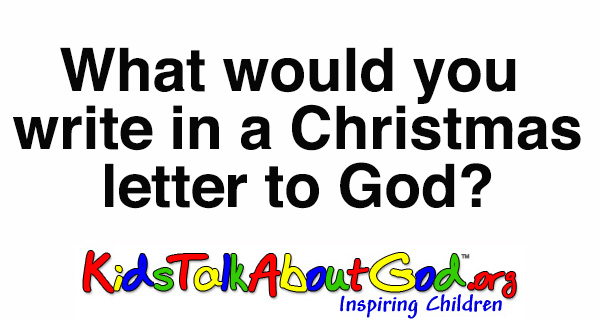 Kids write letters to God