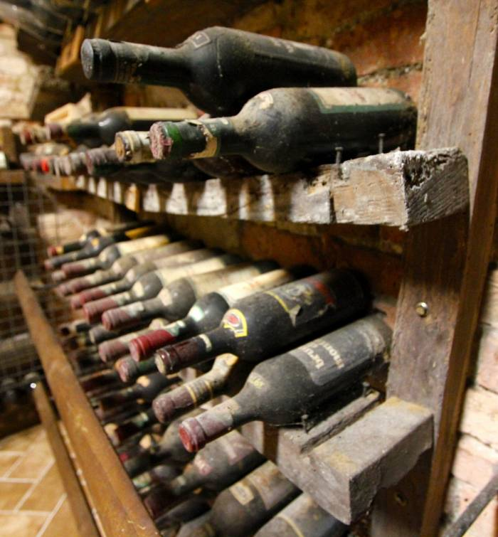 A priceless selection of Brunello vintages in the Abbadia Ardenga wine cellar